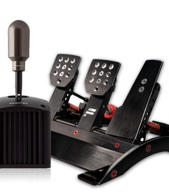 GT PRO Fanatec Clubsport V3 Pedals and Shifter