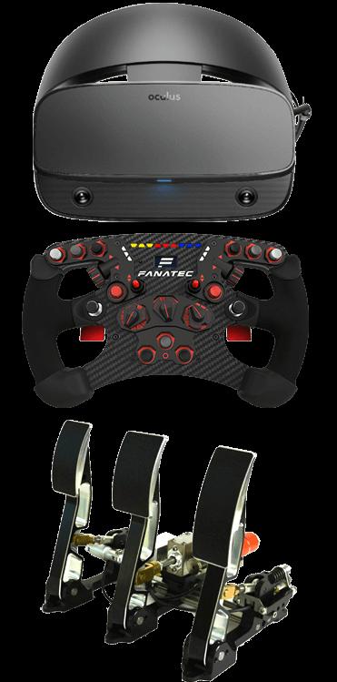 SimGear Features Pedals Wheel Oculus Rift VR