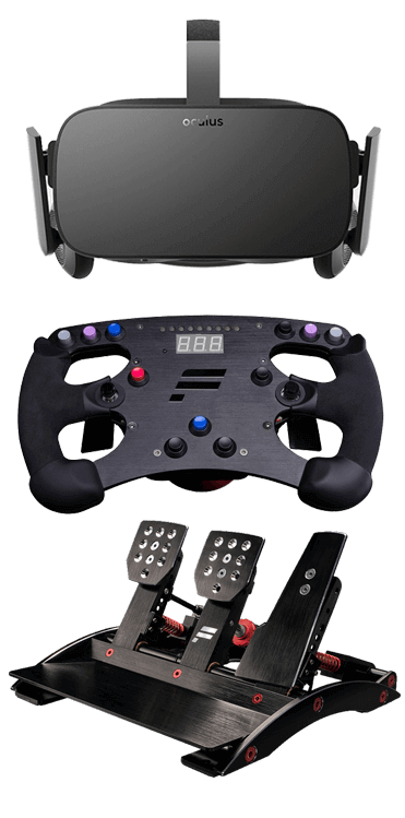 SimGear Features Pedals Wheel Oculus Rift VR